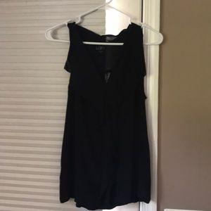 Ann Taylor loft ruffled sleeveless blouse.